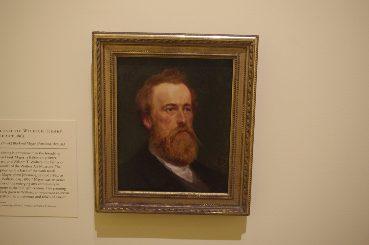 "Here is what William Henry Rinehart looked like... or at least something close to that. ""Portrait of William Henry Rinehart"" (1865) by Francis (Frank) Blackwell Mayer (American) 1827-1899. Made with oil on canvas."