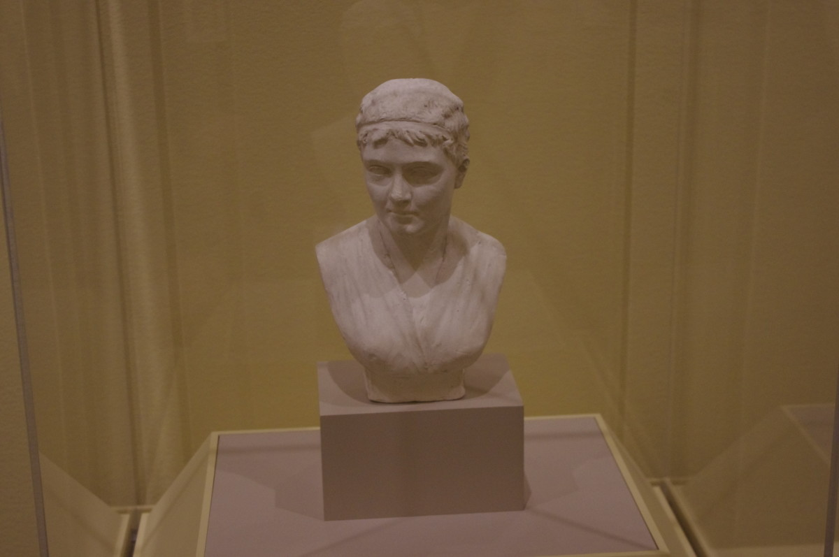 "What more lovely way of saying ""Happy Mother's Day"" than to make a bust of your mom? ""Bust of the Artist's Mother: Mrs. Israel Rinehart (Nee Mary Snader, 1797-1868)"" (ca. 1868) by William Henry Rinehart (American) 1825-1874. Made of marble"