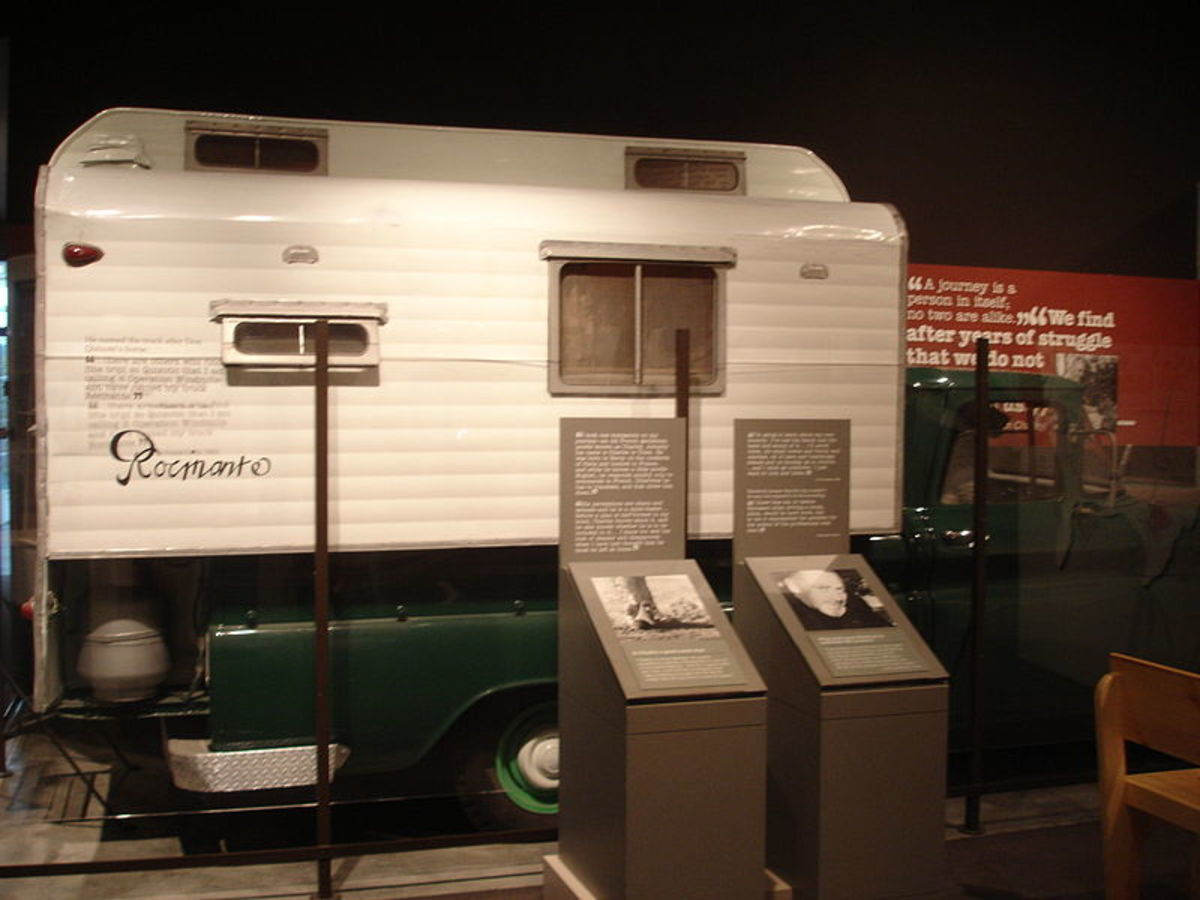 John Steinbeck traveled in this camper across the US in 1960 with his poodle Charley, gathering folklore.