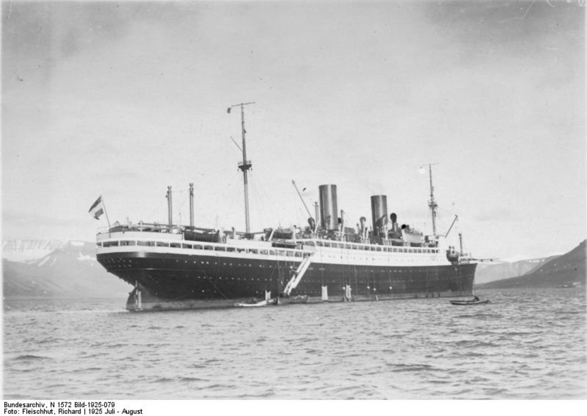 14,500-ton Steuben circa 1925. At that time it was named the Munchen, but was renamed in 1938 after the German officer in the American Revolutionary War.
