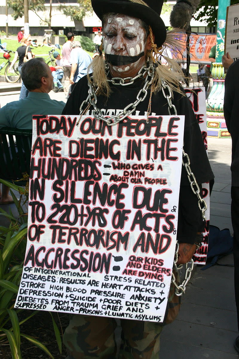 Australia's Indigenous people are still looking for recognition of their human rights.