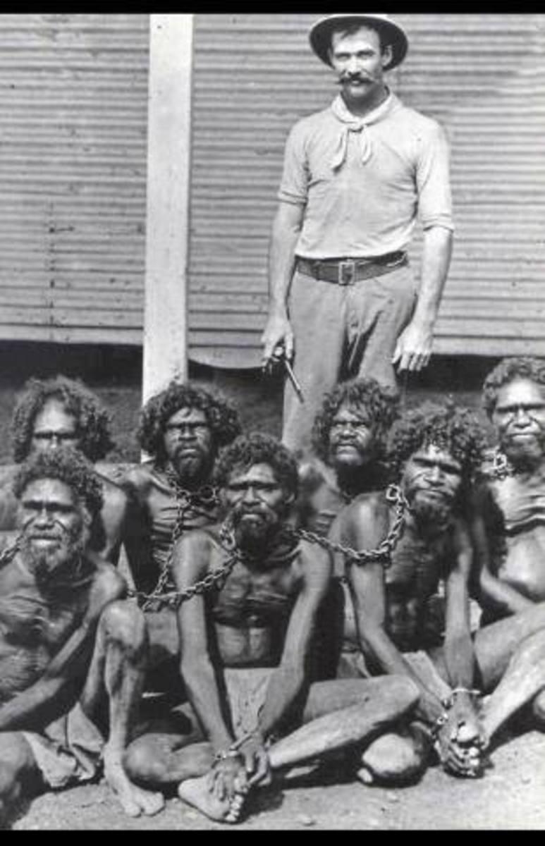 Aborigines mistreated.