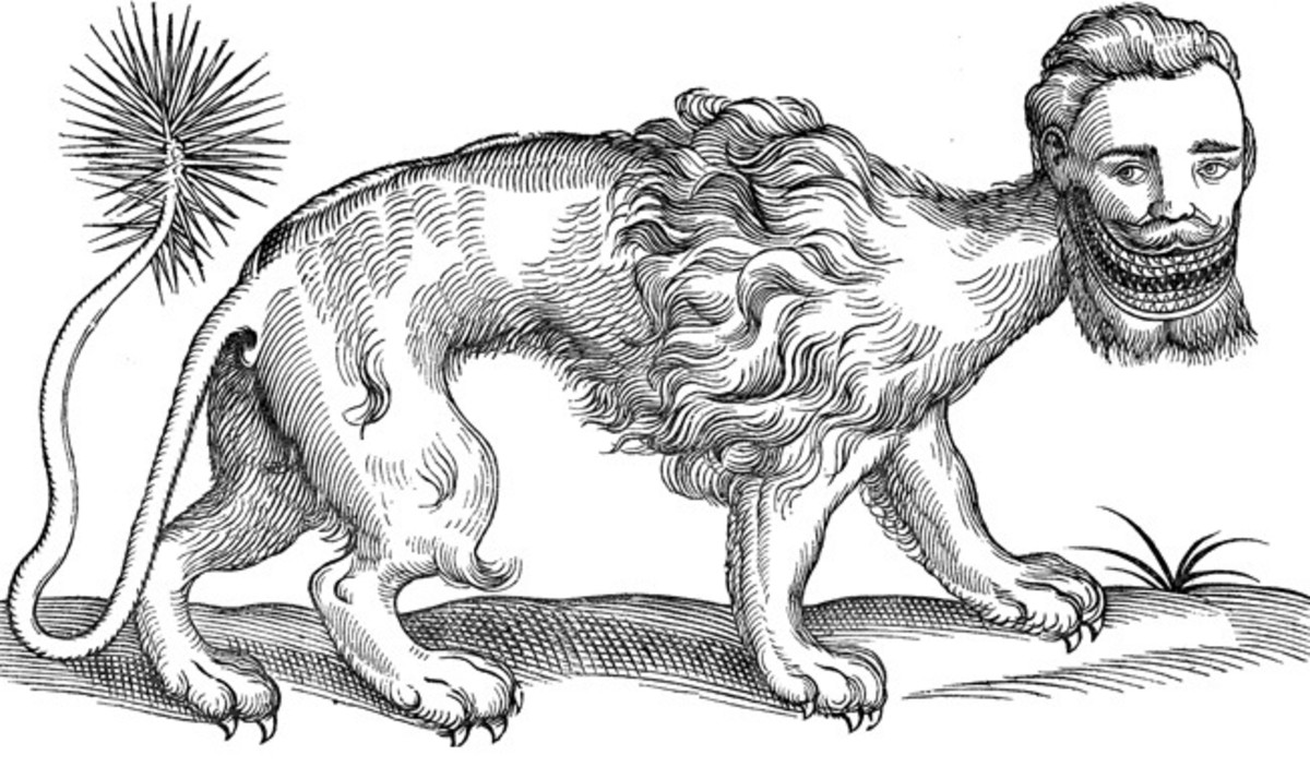 The manticore is often depicted with three rows of sharp teeth.
