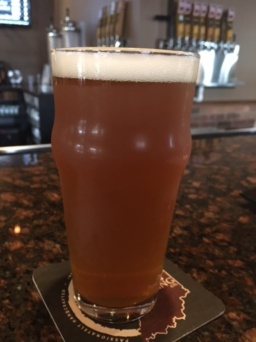 Twodeep's Honey Oatmeal pale ale -- tasty indeed.