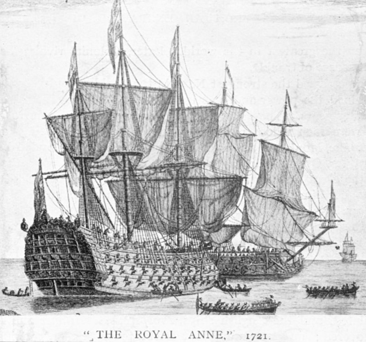 The Royal Anne was used to transport convicts to the colonies.