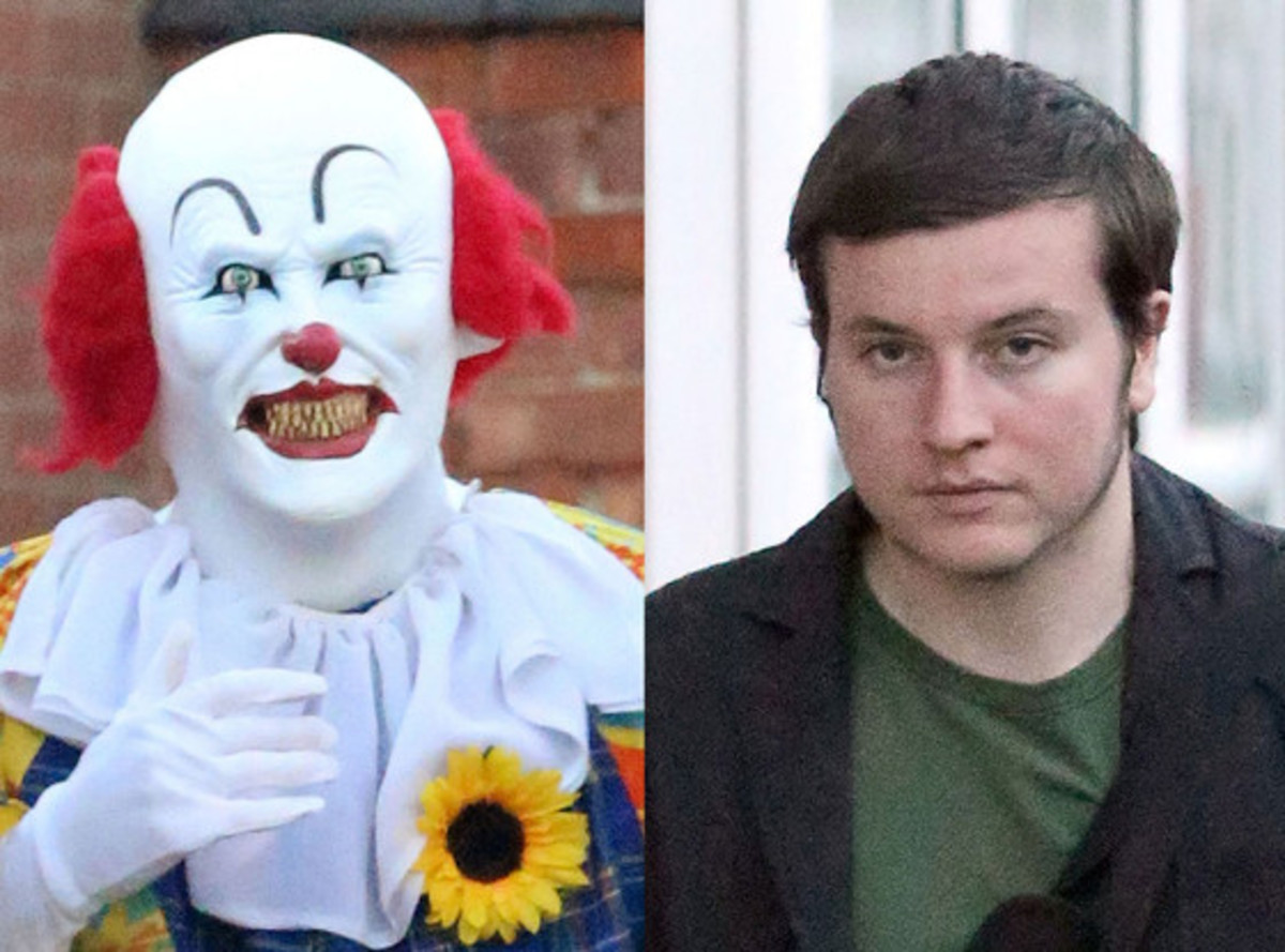 The Northampton Clown, in and out of costume