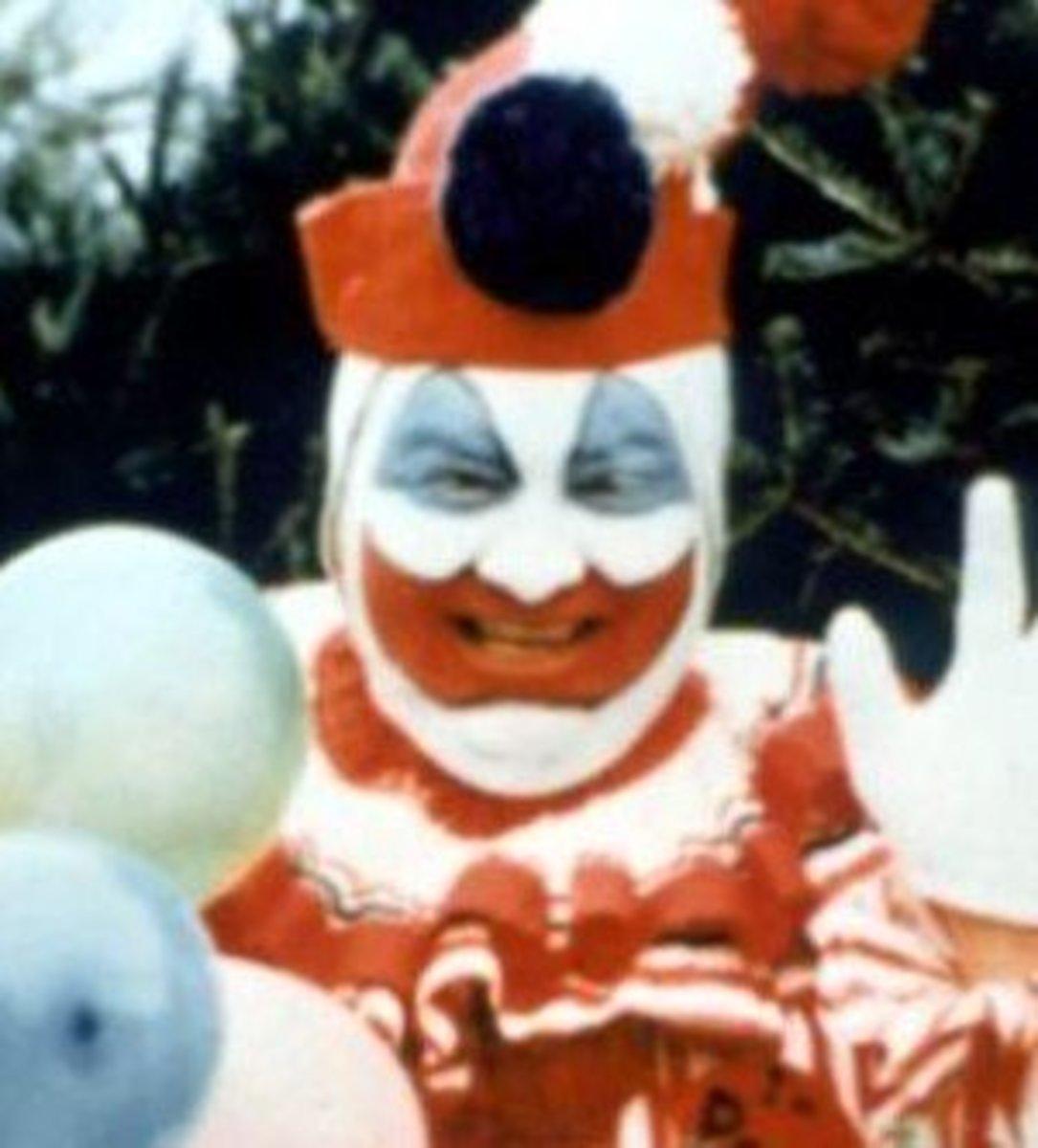 Serial killer John Wayne Gacy in his Pogo costume