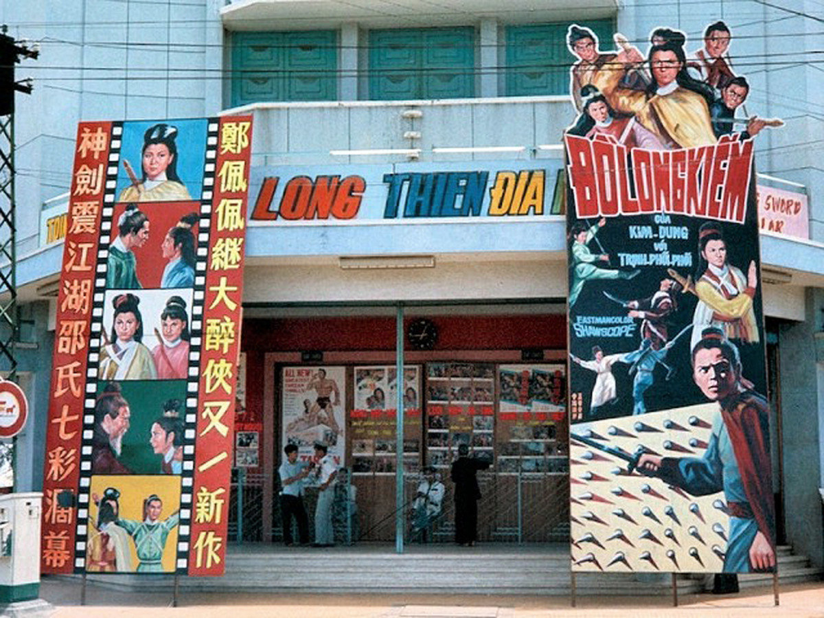 Shaw Brothers movies were shown throughout South East Asia. This is a picture of a screening in Saigon.