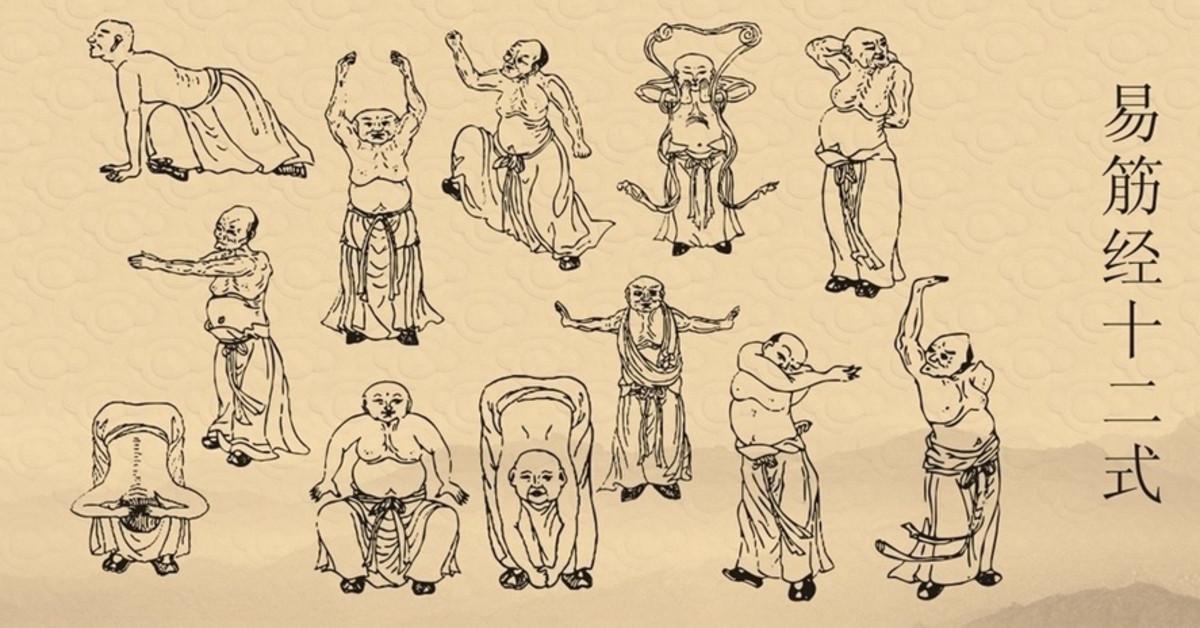The actual Shaolin Yijin Jing qigong exercise.