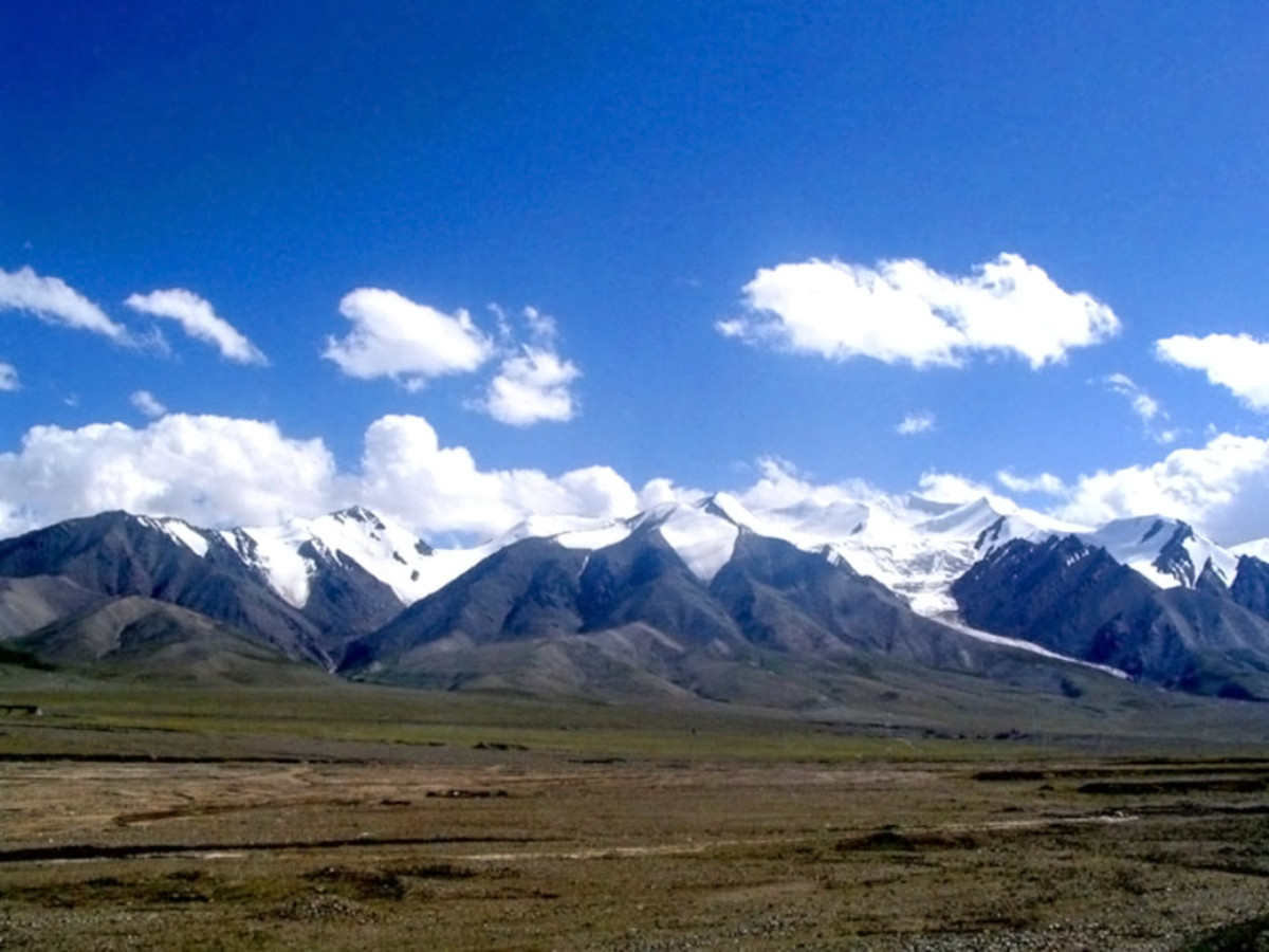 The remote Kunlun Mountain Range of China.