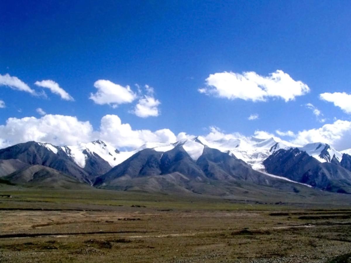 The remote Kunlun Mountain Range of China.