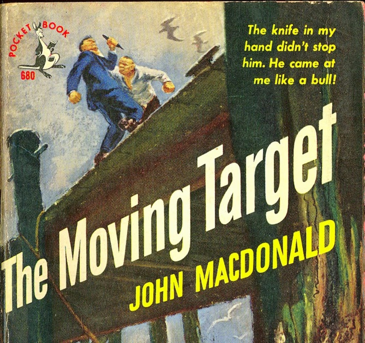Detail from the cover of an earlier edition of The Moving Target.