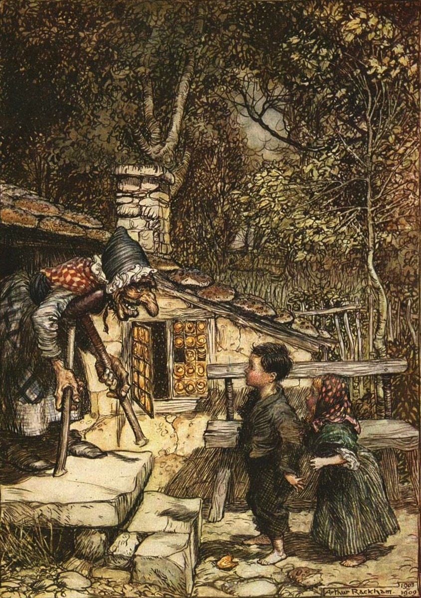 Hansel and Gretel Illustration by Arthur Rackham, 1909