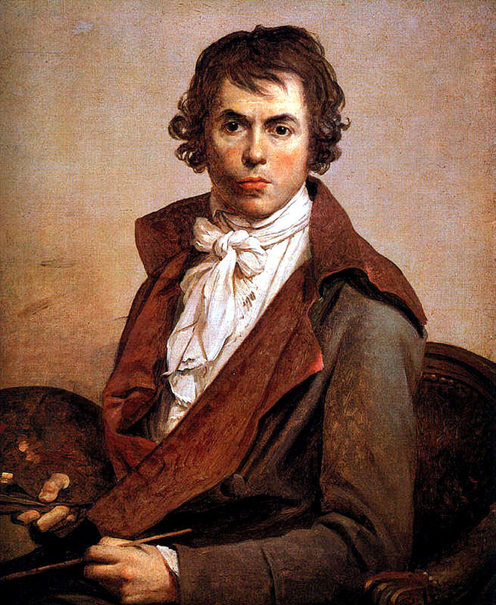 Self-portrait by Jacques-Louis David, oil on canvas, 1794; in the Louvre, Paris.