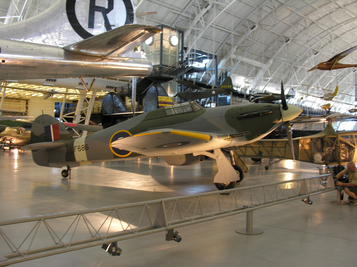 The Hawker Hurricane at the Udvar-Hazy Center, June 2010.