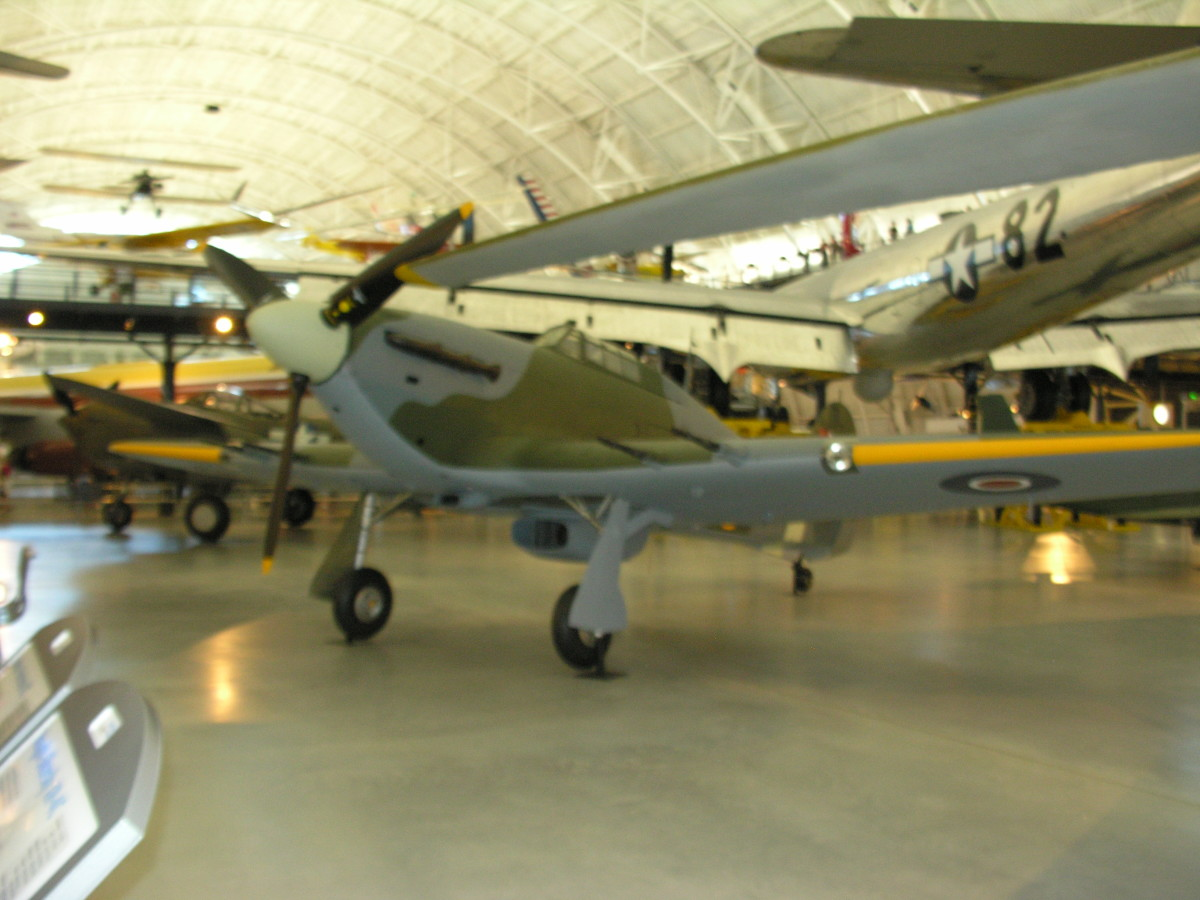 The Hawker Hurricane at the Udvar-Hazy Center June 2016.