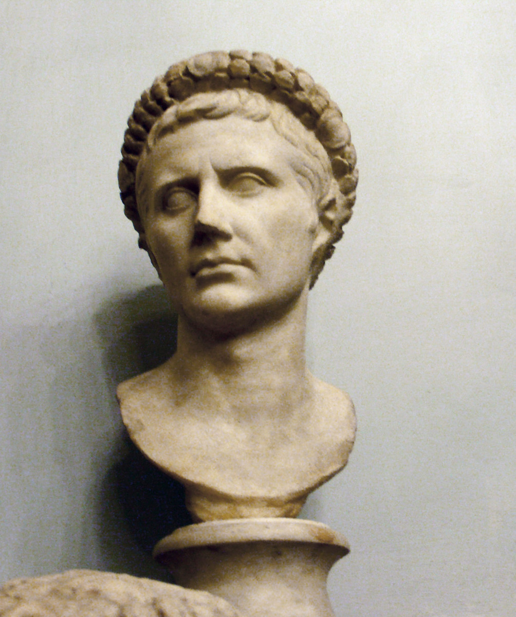 Bust of Augustus in Musei Capitolini, Rome
