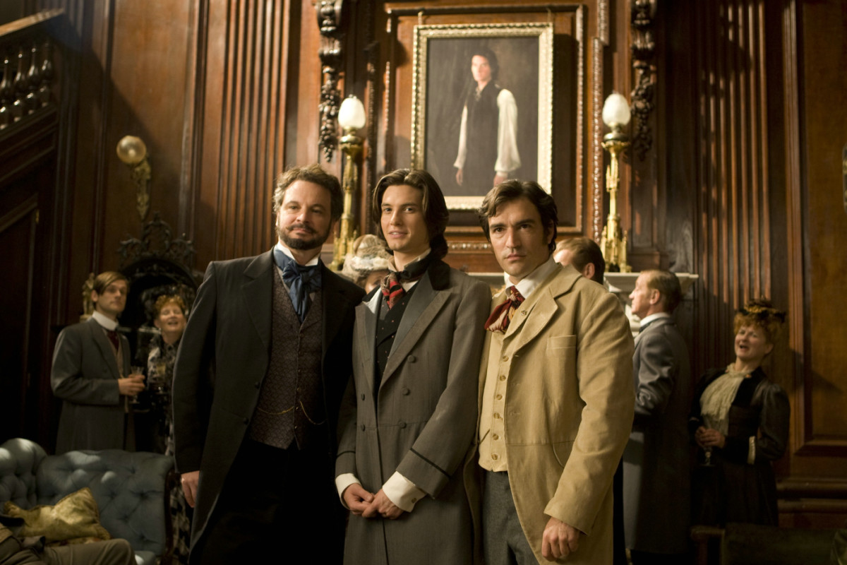 The Picture of Dorian Gray, 2009. Henry is at the left, Dorian is in the middle and Basil is on the right
