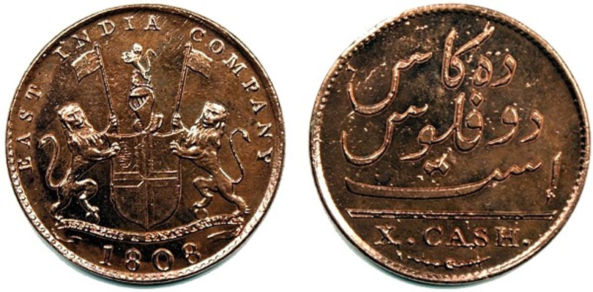 1808 10 Cash Coin from the Admiral Gardner