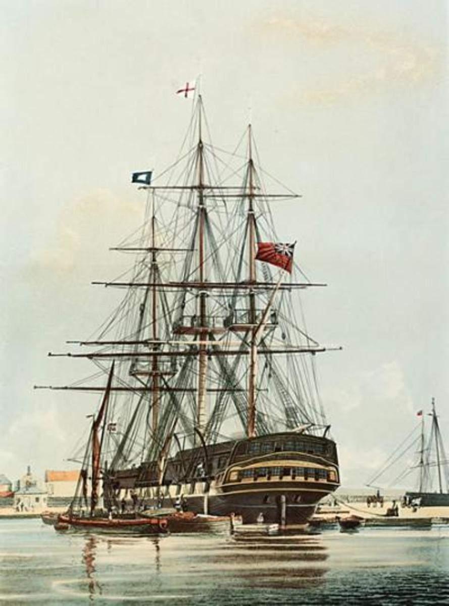 The East Indiaman Repulse.