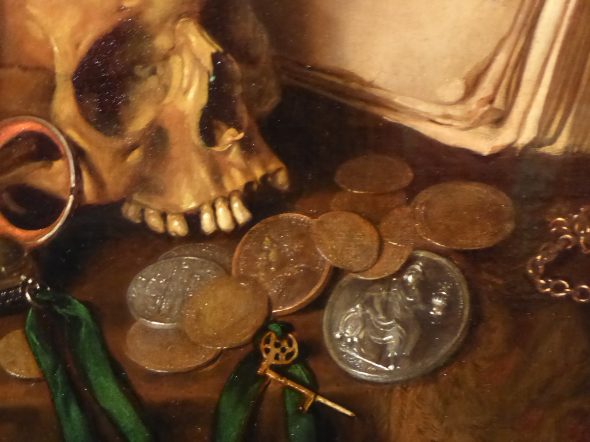 Pieter Gerritsz van Roestraten, 'A Vanitas,' detail. Copyright image Frances Spiegel with Permission from Royal Collection Trust. All rights reserved.