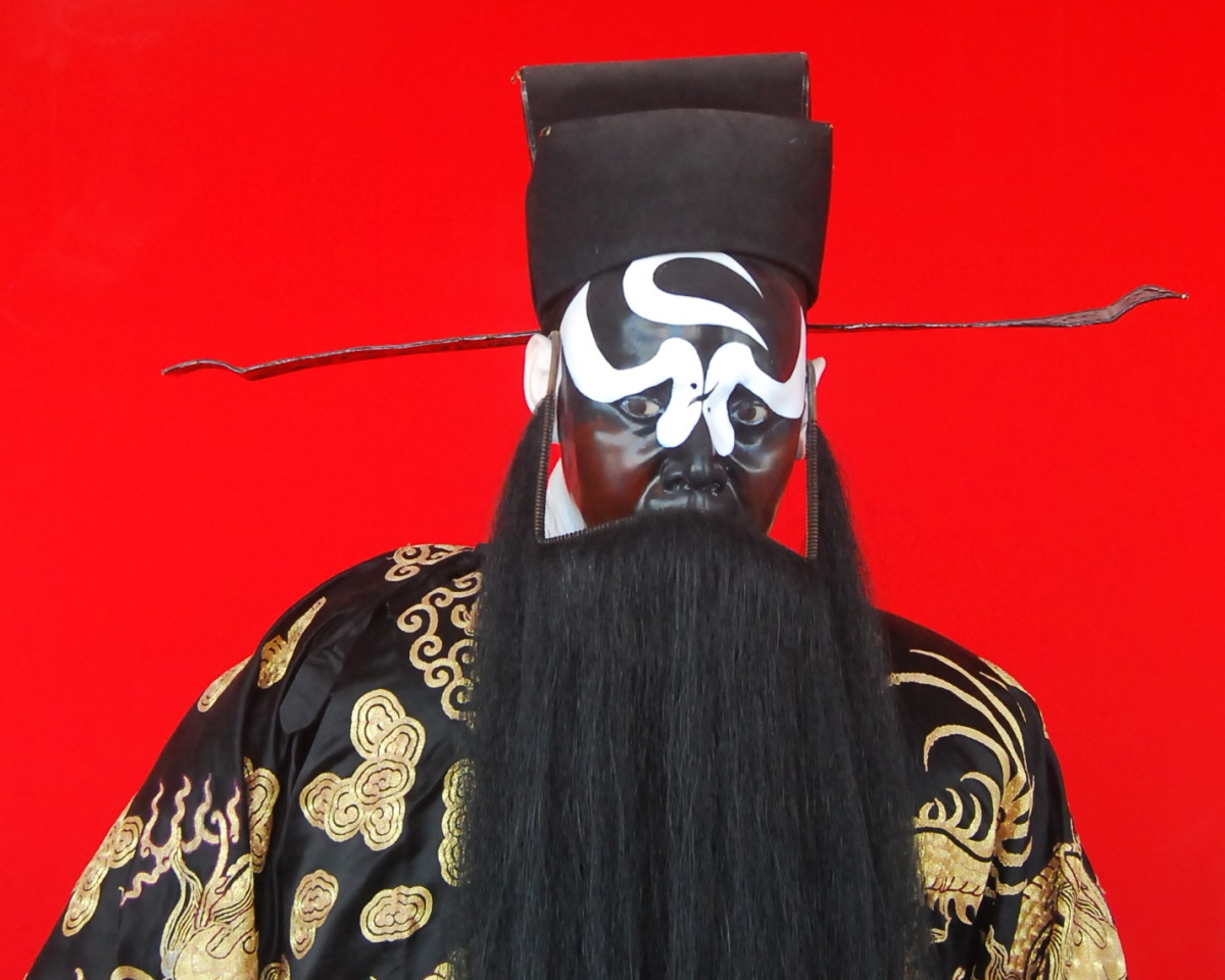 Justice Bao is popular heroic character in many Chinese operas.