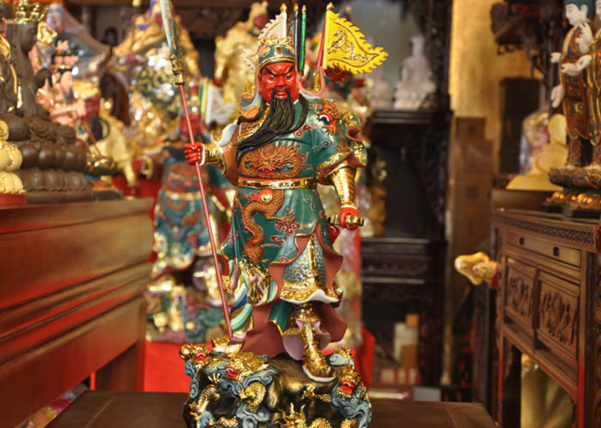 A shrine to Guan Yu. One of the most beloved and venerated Chinese heroes.