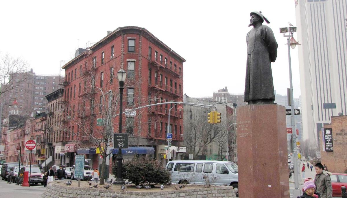 Lin Zexu in Chinatown, New York City. He might have triggered the First Opium War, but no one, not even his enemies, questions the moral integrity of this Chinese hero.
