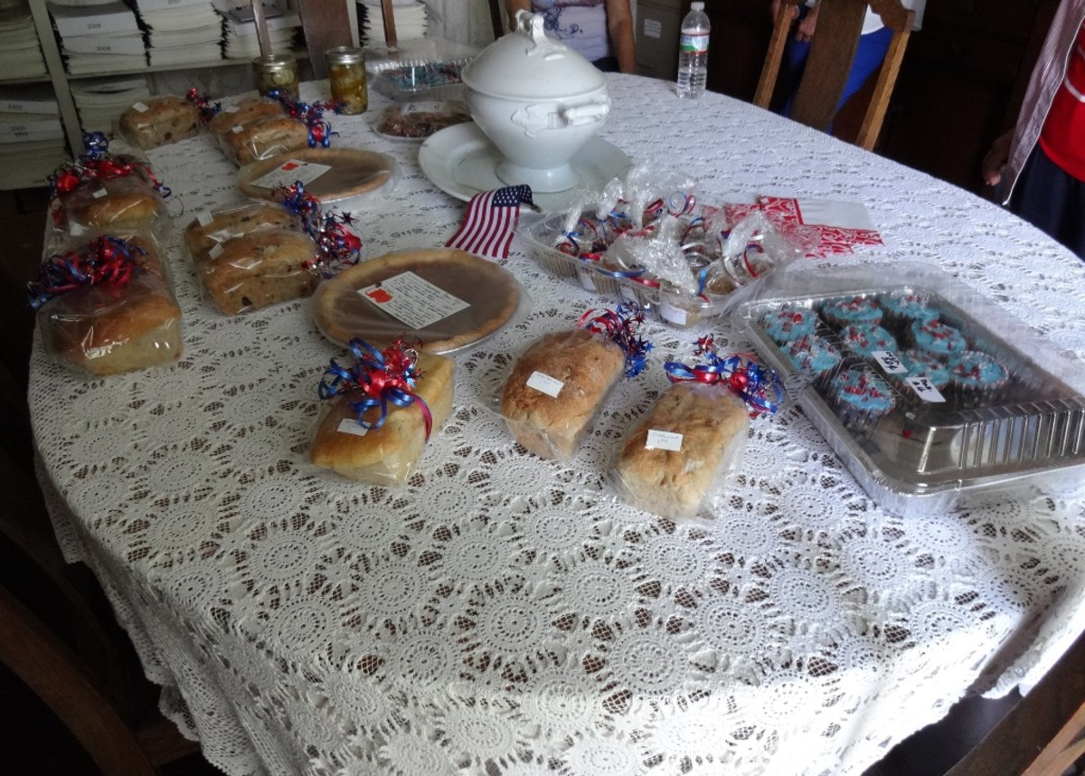 Baked goods for sale during the open house in June 2016 after the Audie Murphy parade in town.