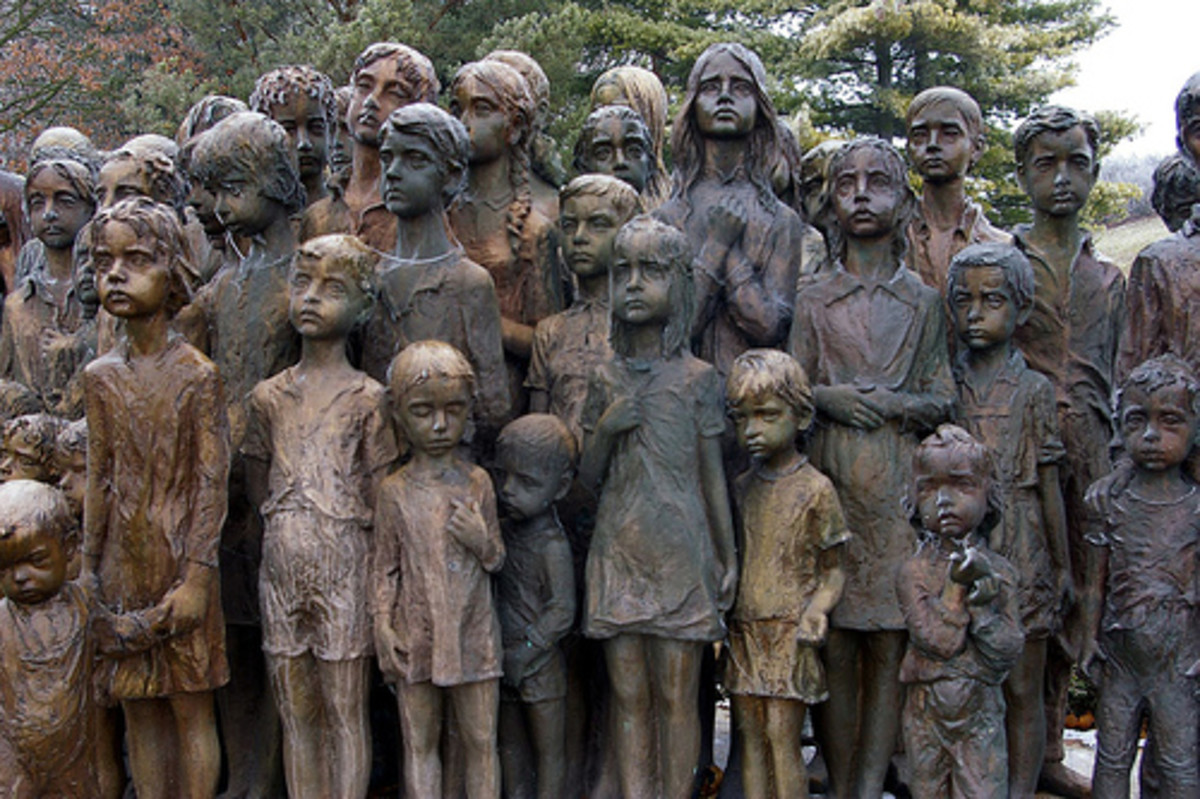 Memorial to the children of Lidice.