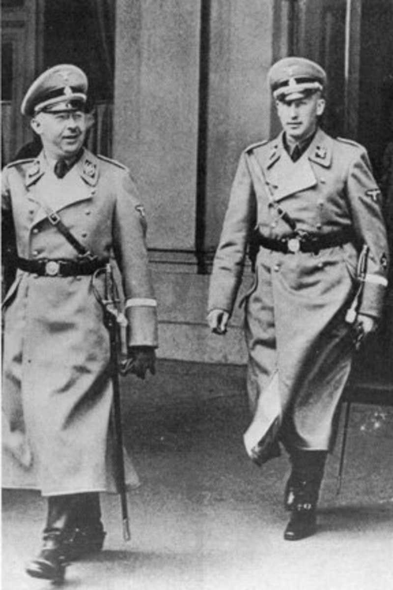 Heydrich with Heinrich Himmler in 1938.