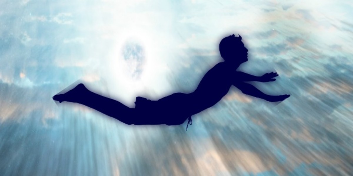 During an OBE, a person has the feeling of floating above their body.