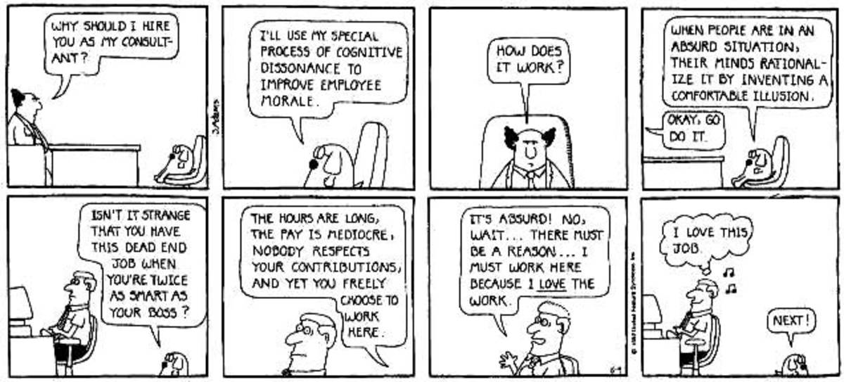 Cognitive Dissonance Dilbert Comic
