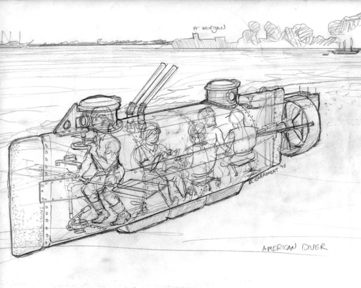 Blueprint of H.L. Hunley