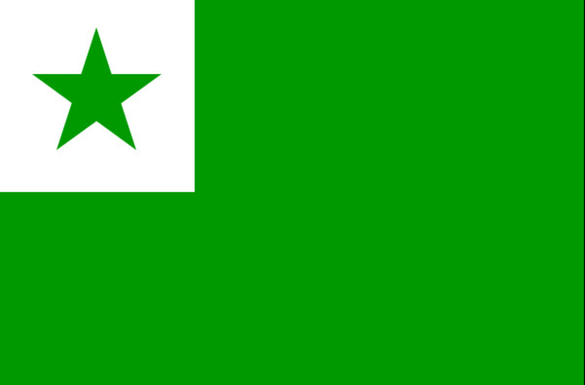 The Green Star Flag of the Esperanto Movement