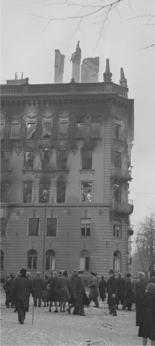 Soviet Embassy in Helsinki. Ironically one of the (relatively) few buildings struck by Soviet bombers during the first of the three Great Raids in 1944. February 7, 1944.