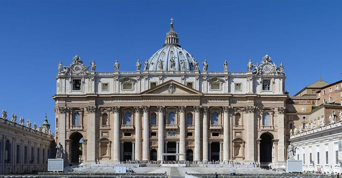 Thw St. Peter's Basilica is an Italian Renaissance church in Vatican City, the papal enclave within the city of Rome.