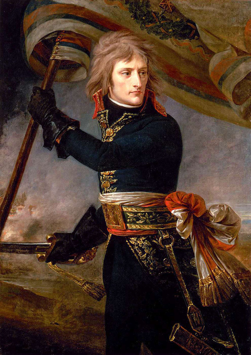 Napoleon crossing the Bridge of Arcol