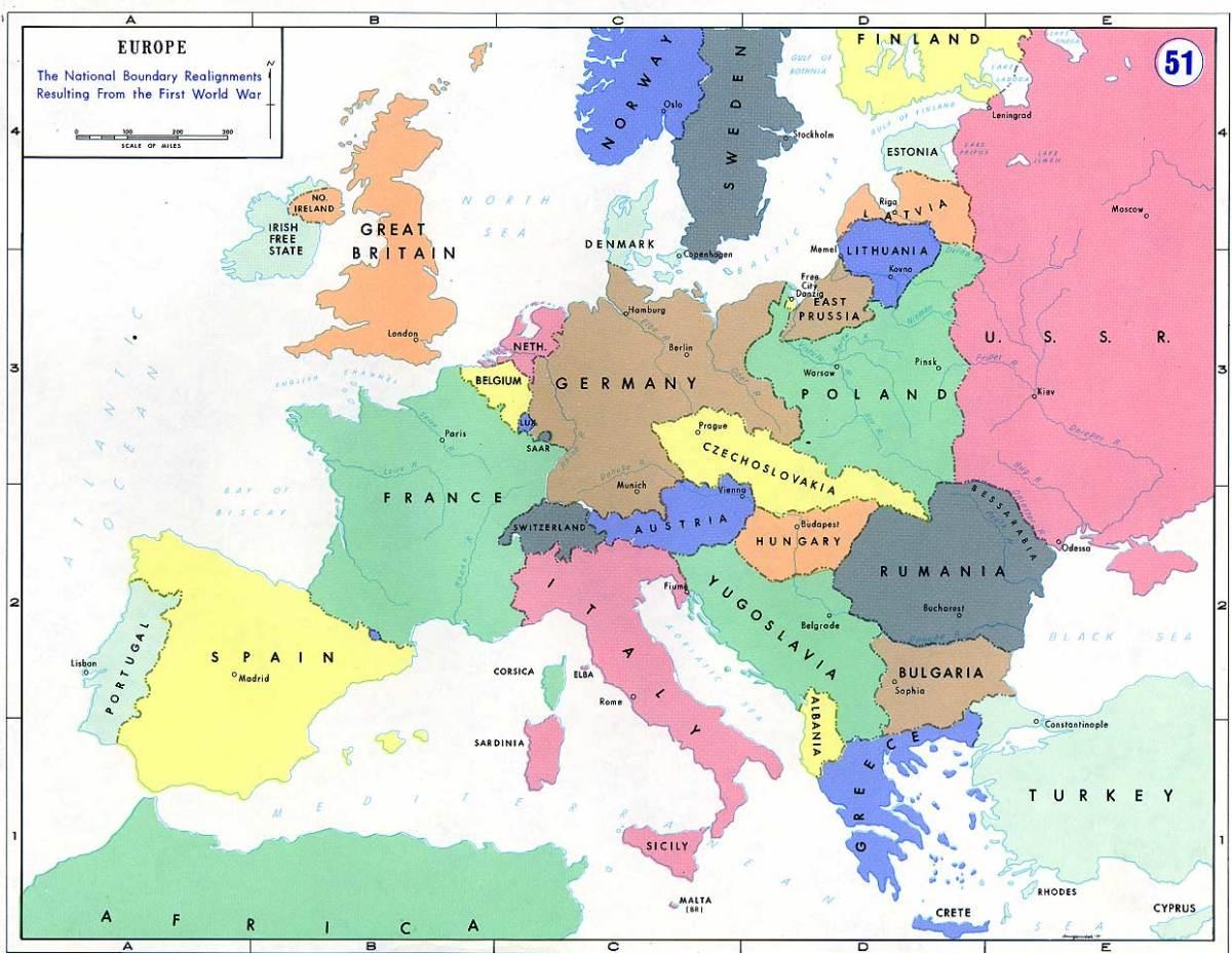 Post-WWI Boundaries