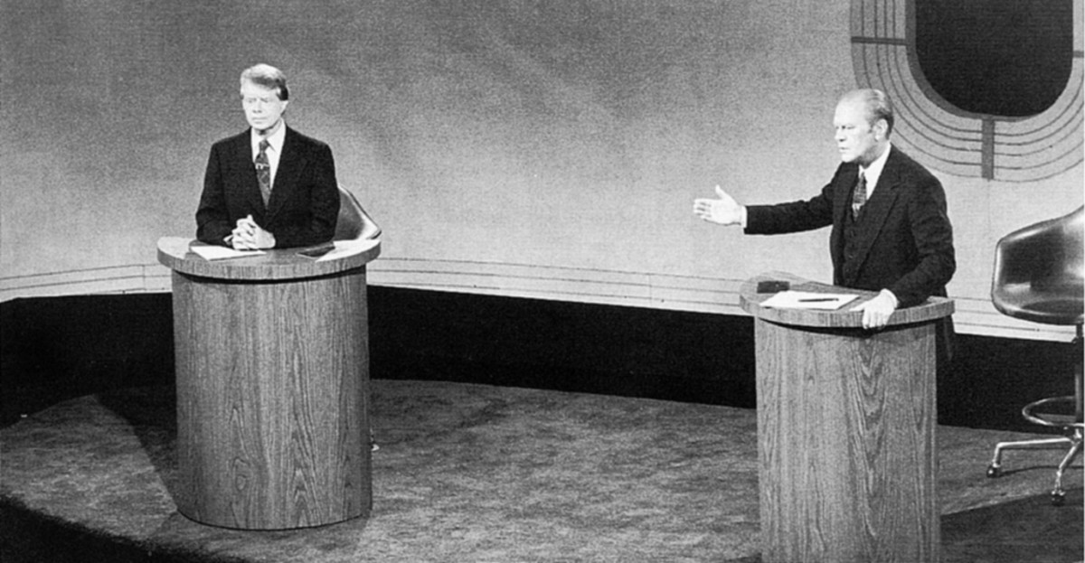 1976 Presidential Debate Between Jimmy Carter and Gerald Ford.