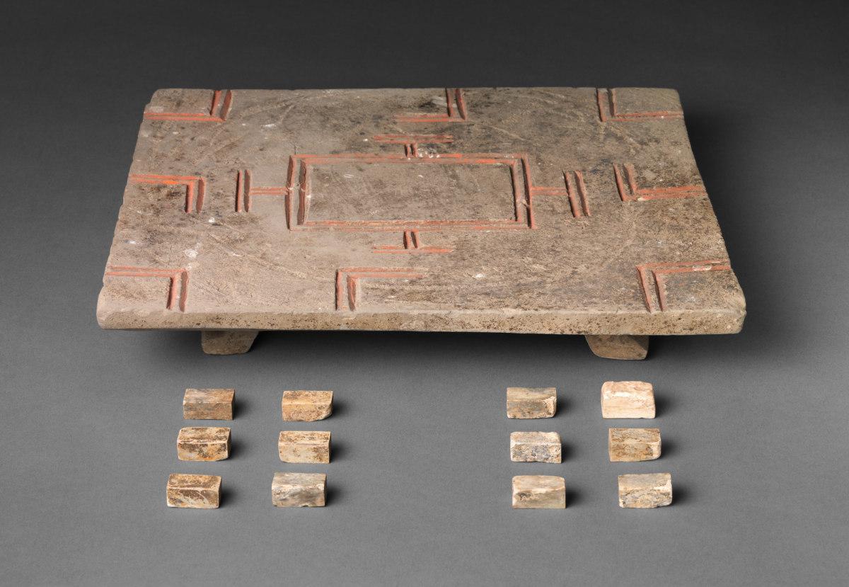 Liubo Board and Pieces, Han dynasty (206 BC - AD 220), China.
