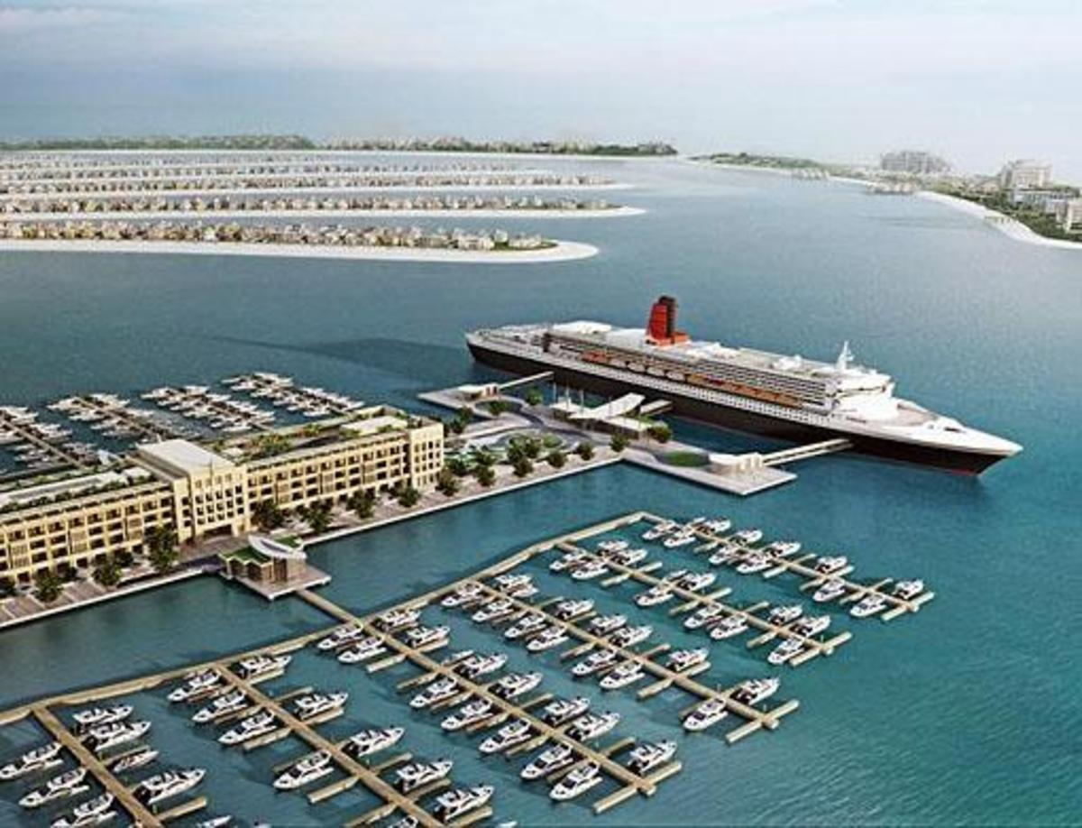 A concept of Dubai's proposed QE2 installation.