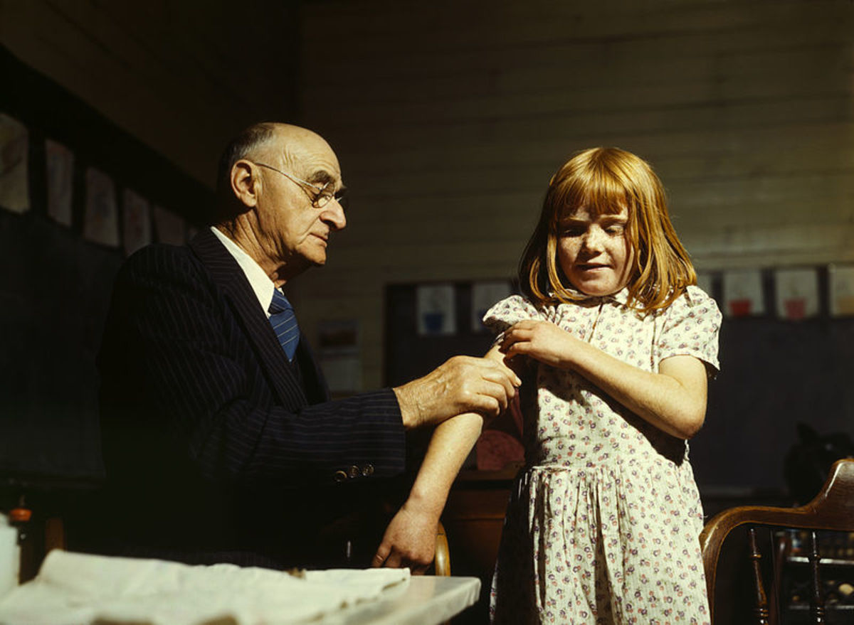 Vaccination against typhoid in 1943.