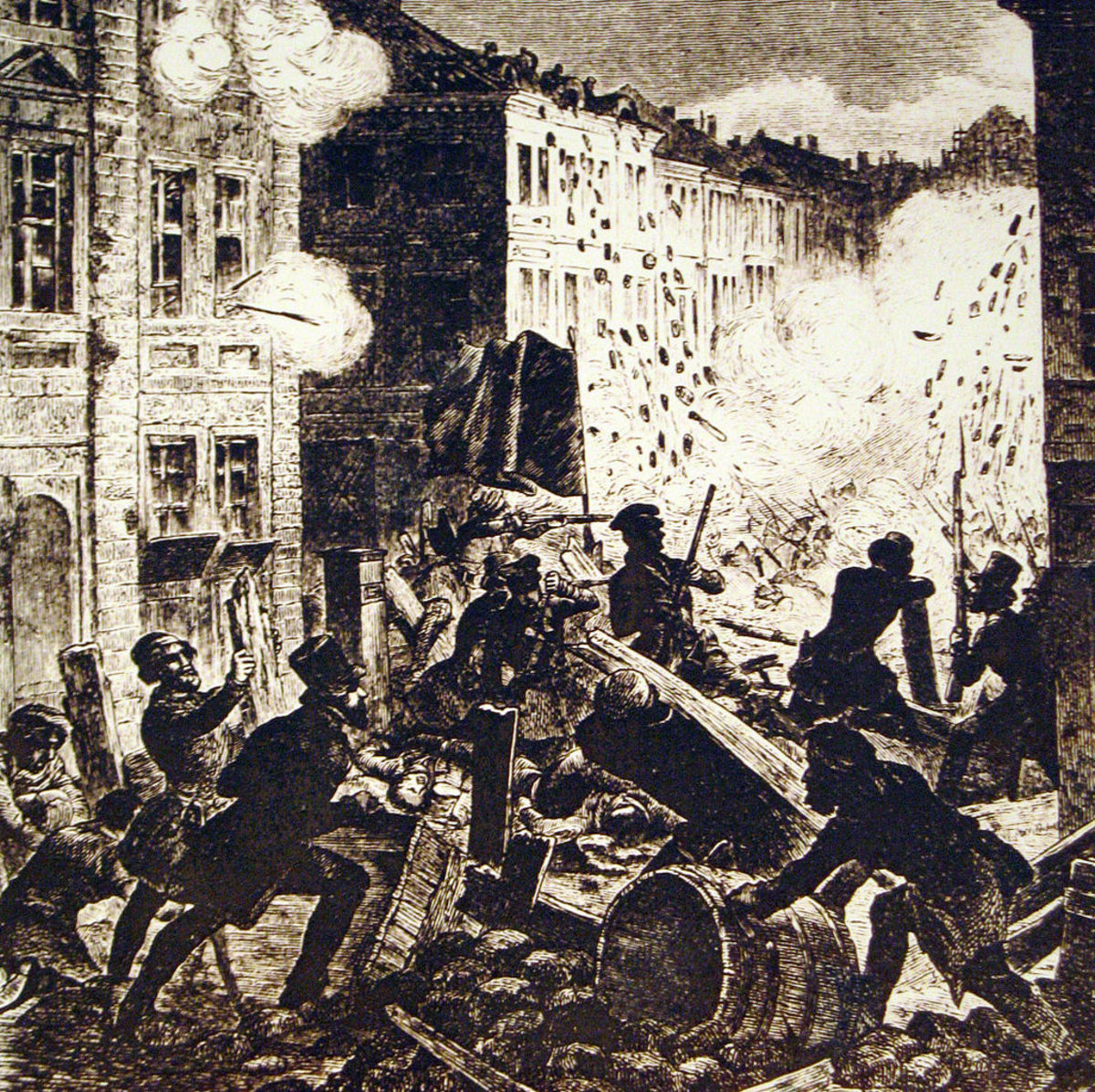 Riots in the streets of St. Louis by supporters of Governor Jackson's pro-Southern supporters.