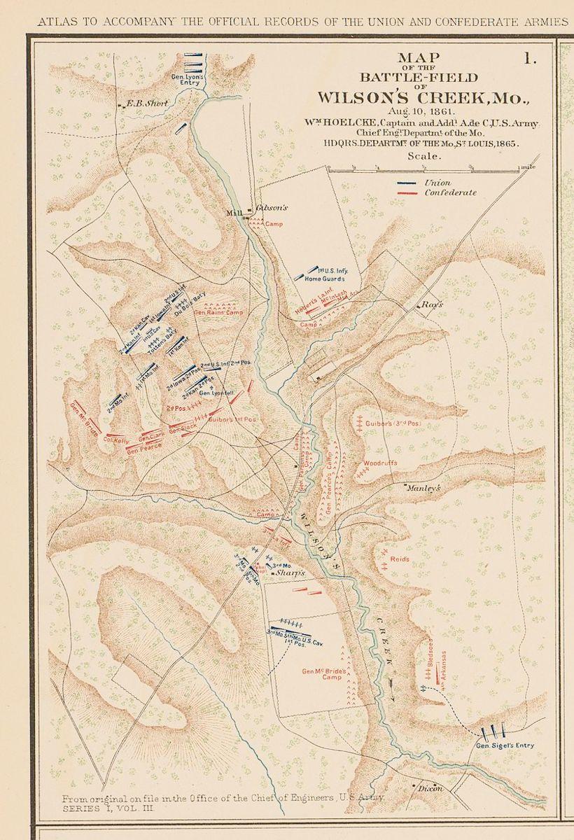 Battle Map of Wilson's Creek