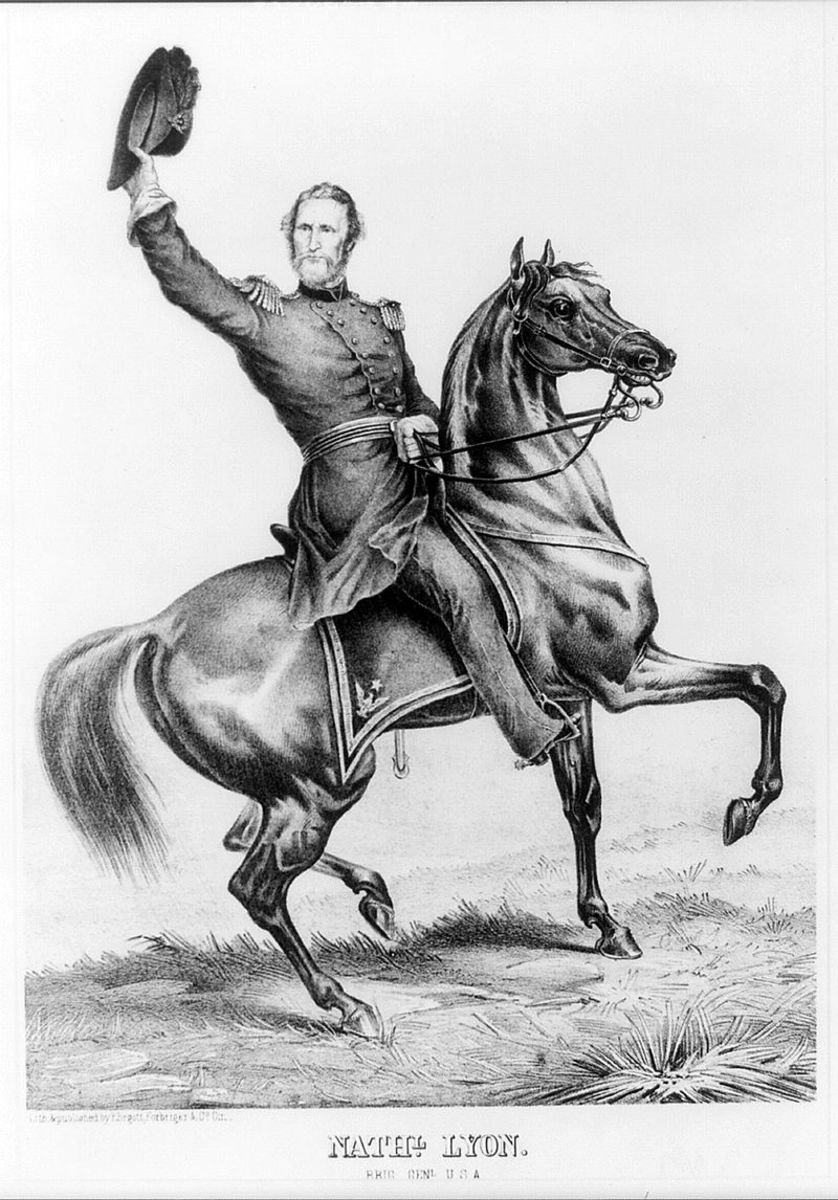 Nathaniel Lyon, a West Point graduate, the leader of Union troops who wanted Missouri to maintain their allegiance to the national government.