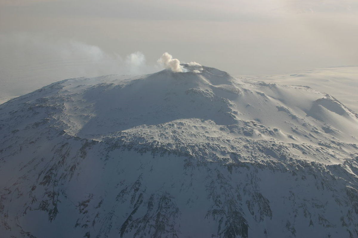 Mt. Erebus, the southernmost active volcano in the world
