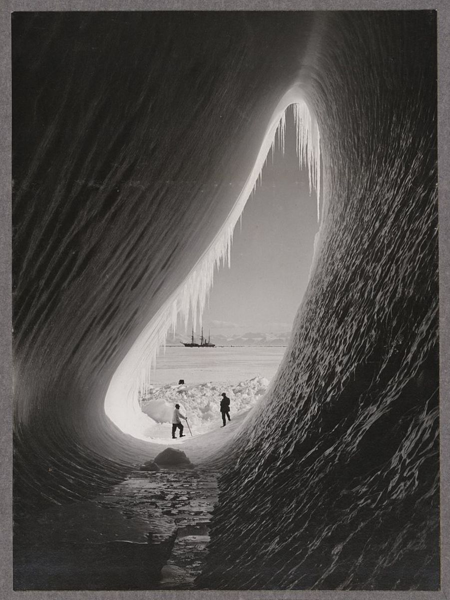 Grotto in an iceberg (photo taken in early 1900s)