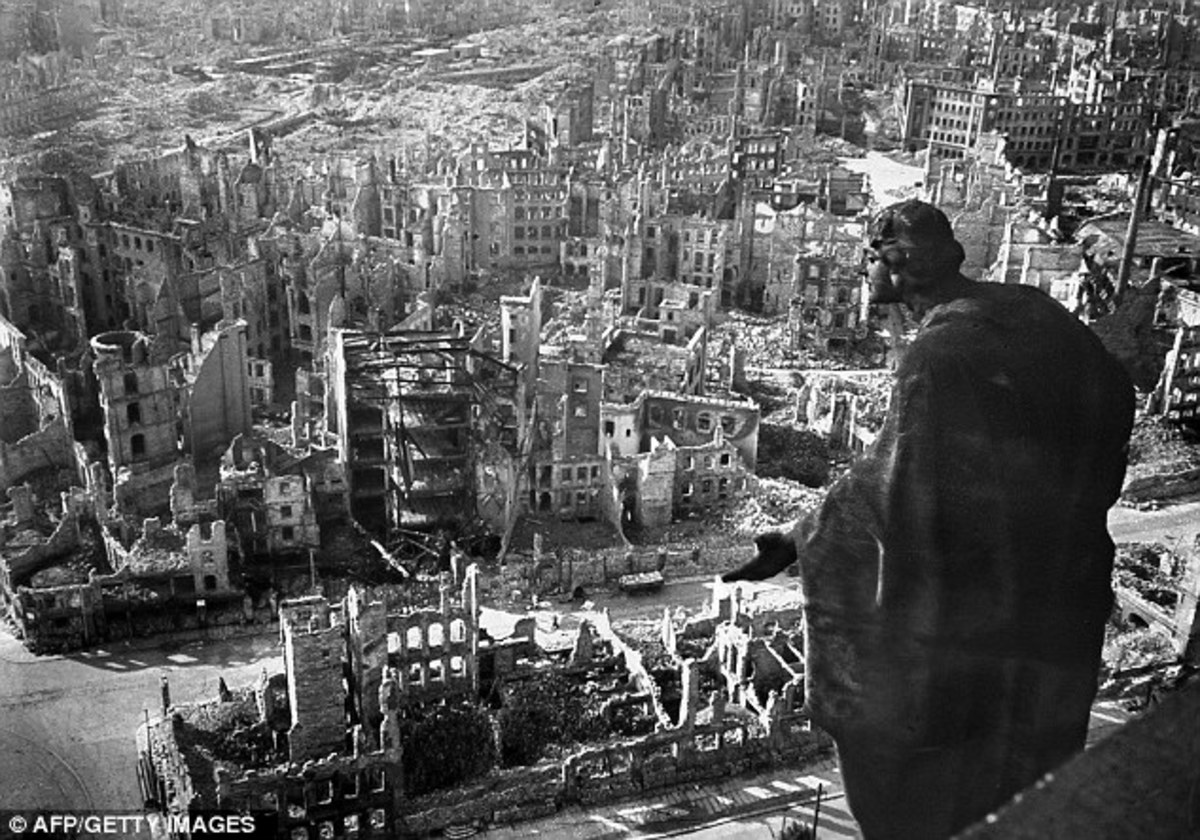 Dresden after the Allied bombing February 1945.