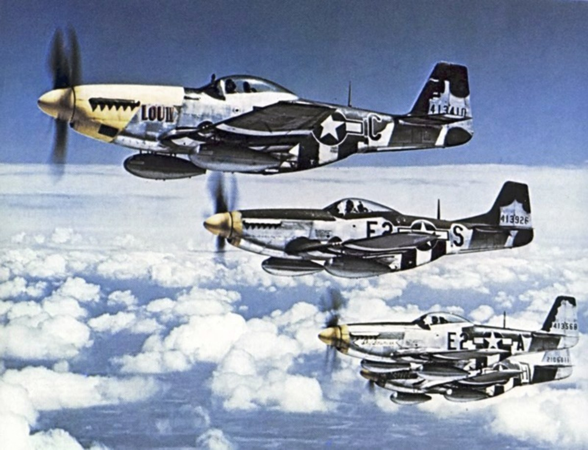 P-51s in the air above Germany 1944.